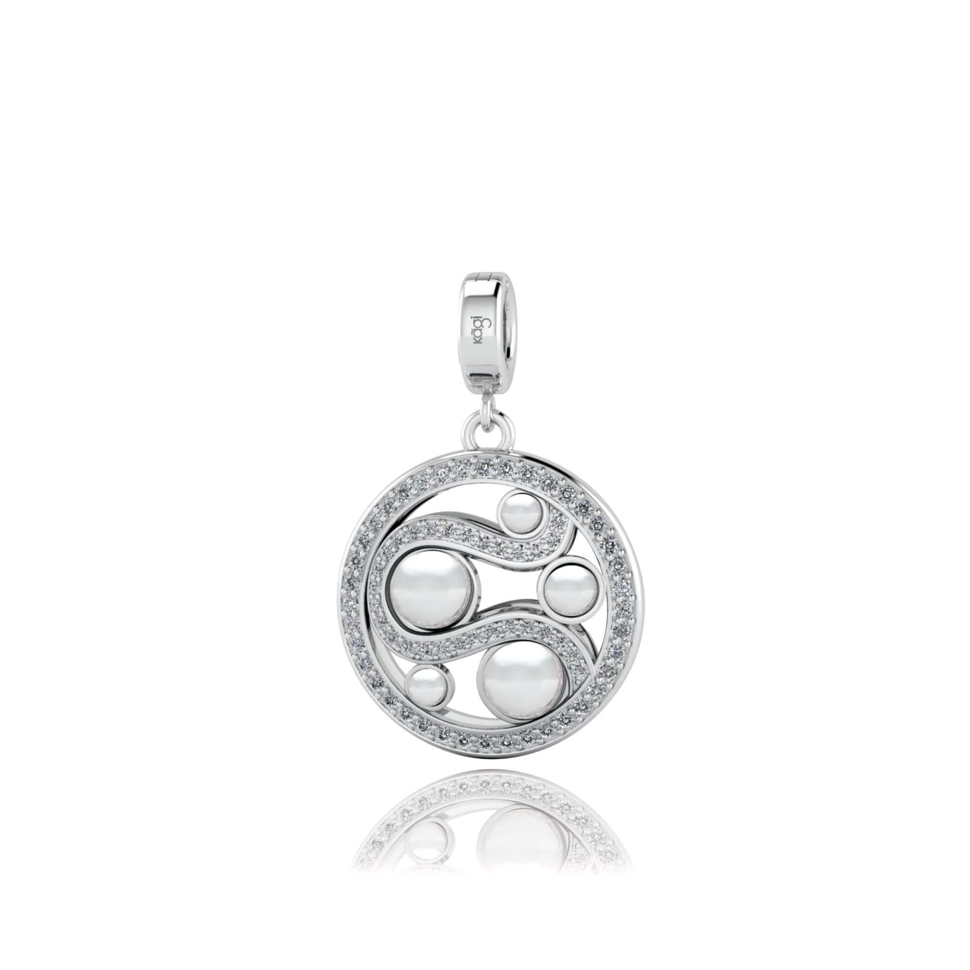 Kagi Mystic Pearl Small Pendant White Side $149 www.kagi.net