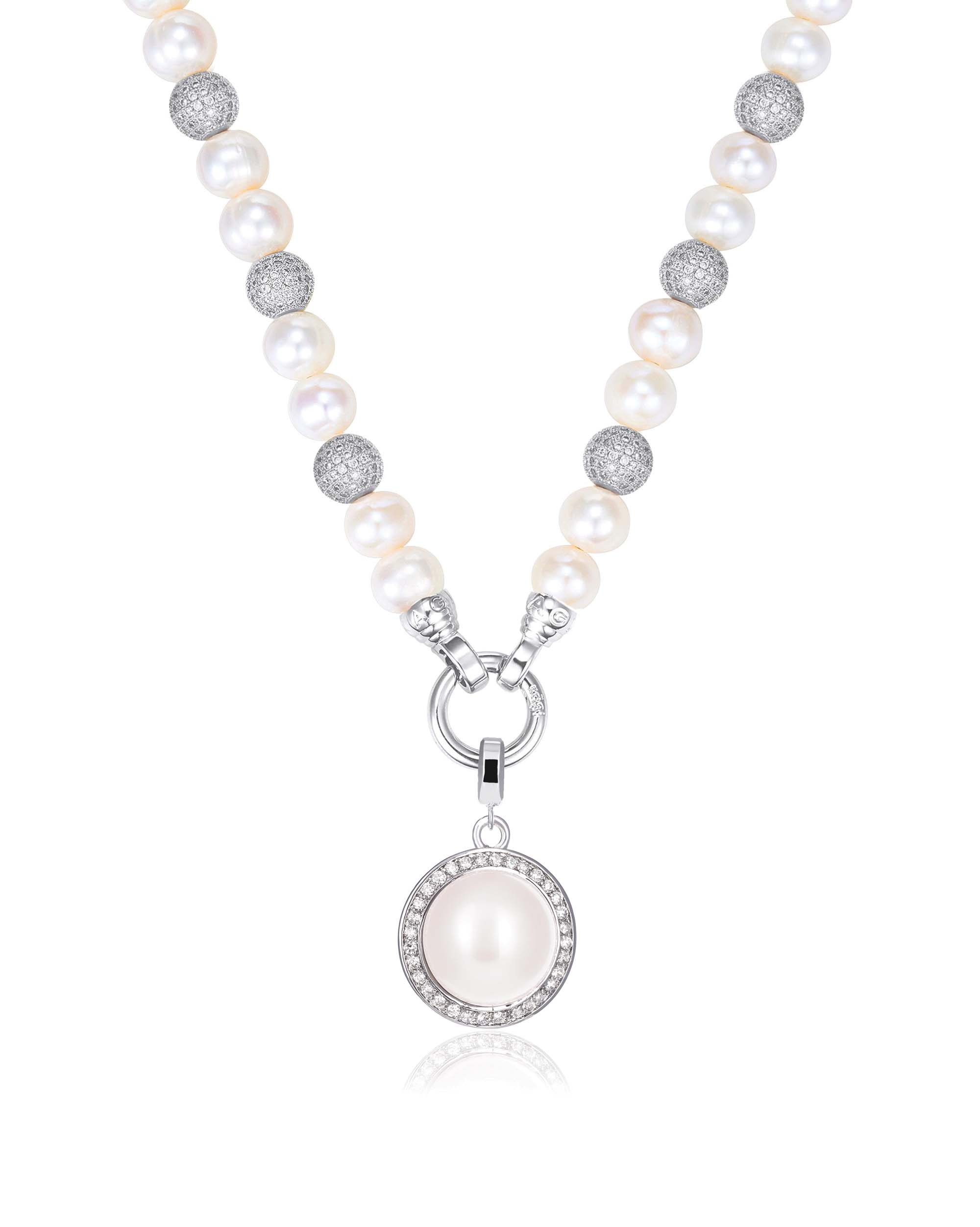 Kagi Pearl Luxe Necklace with Pearl Orbit Medium Pendant $139 www.kagi.net