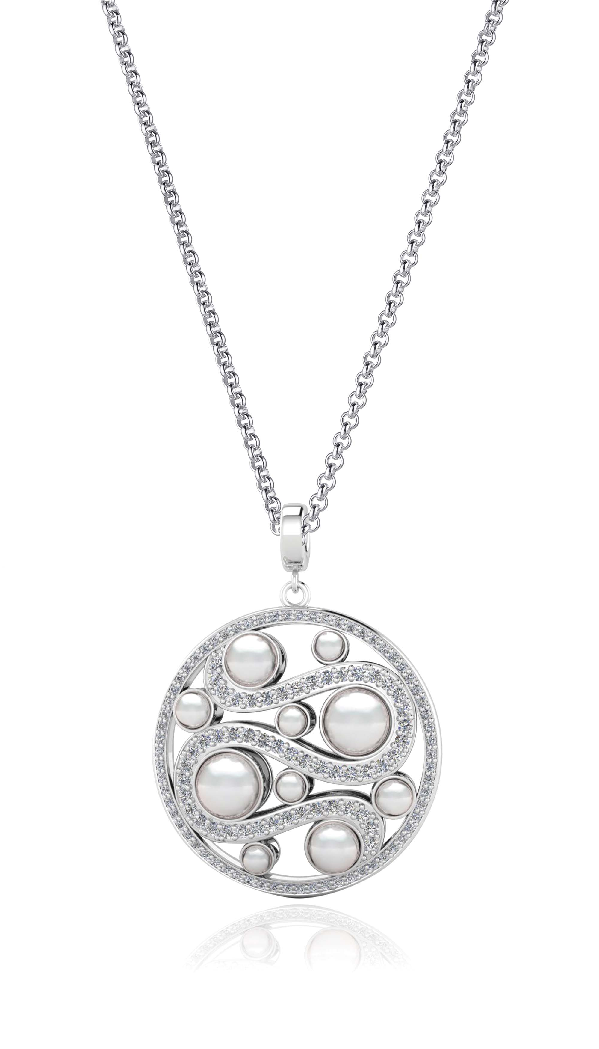 Kagi Steel Me Petite Necklace 47cm $129 with Mystic Pearl Pendant (Light Side) $249 www.kagi.net