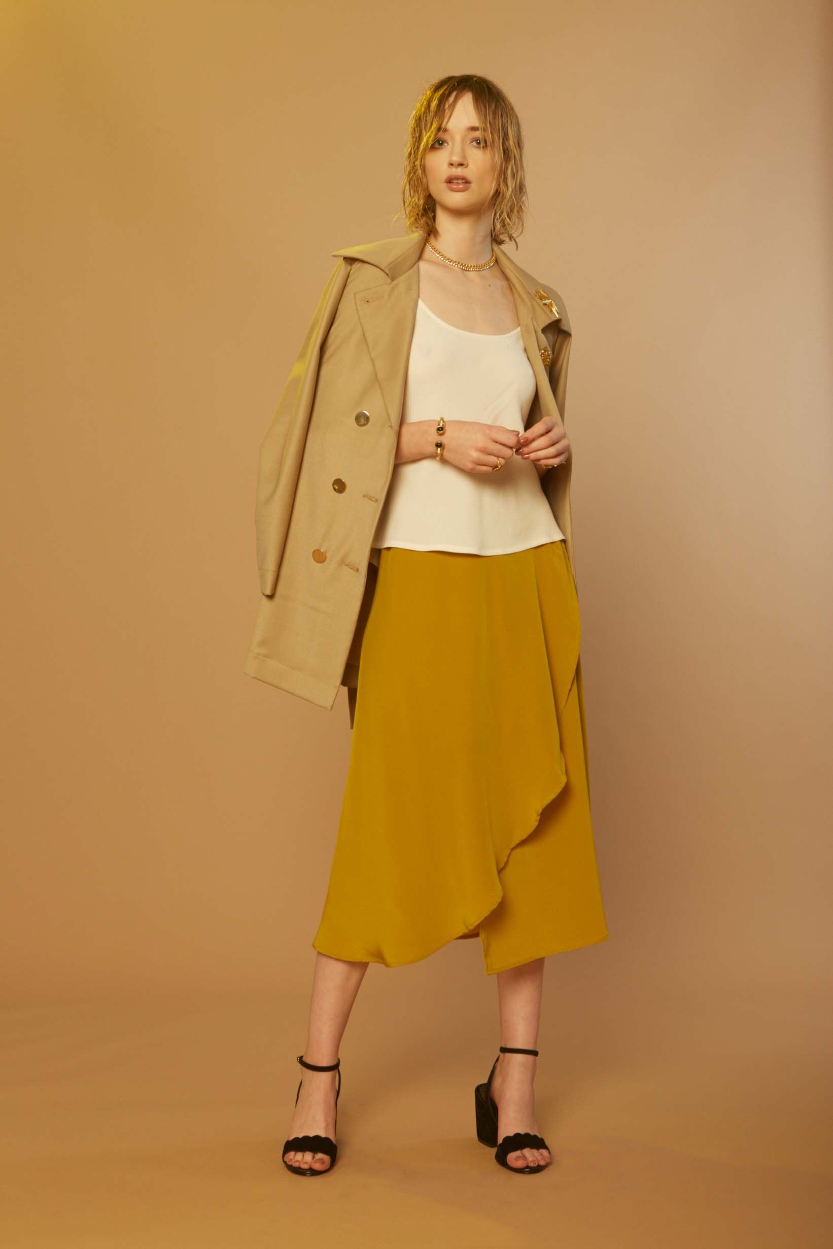 Liam Aleatory Trench, Sonic Top & Sonic Wrap Skirt