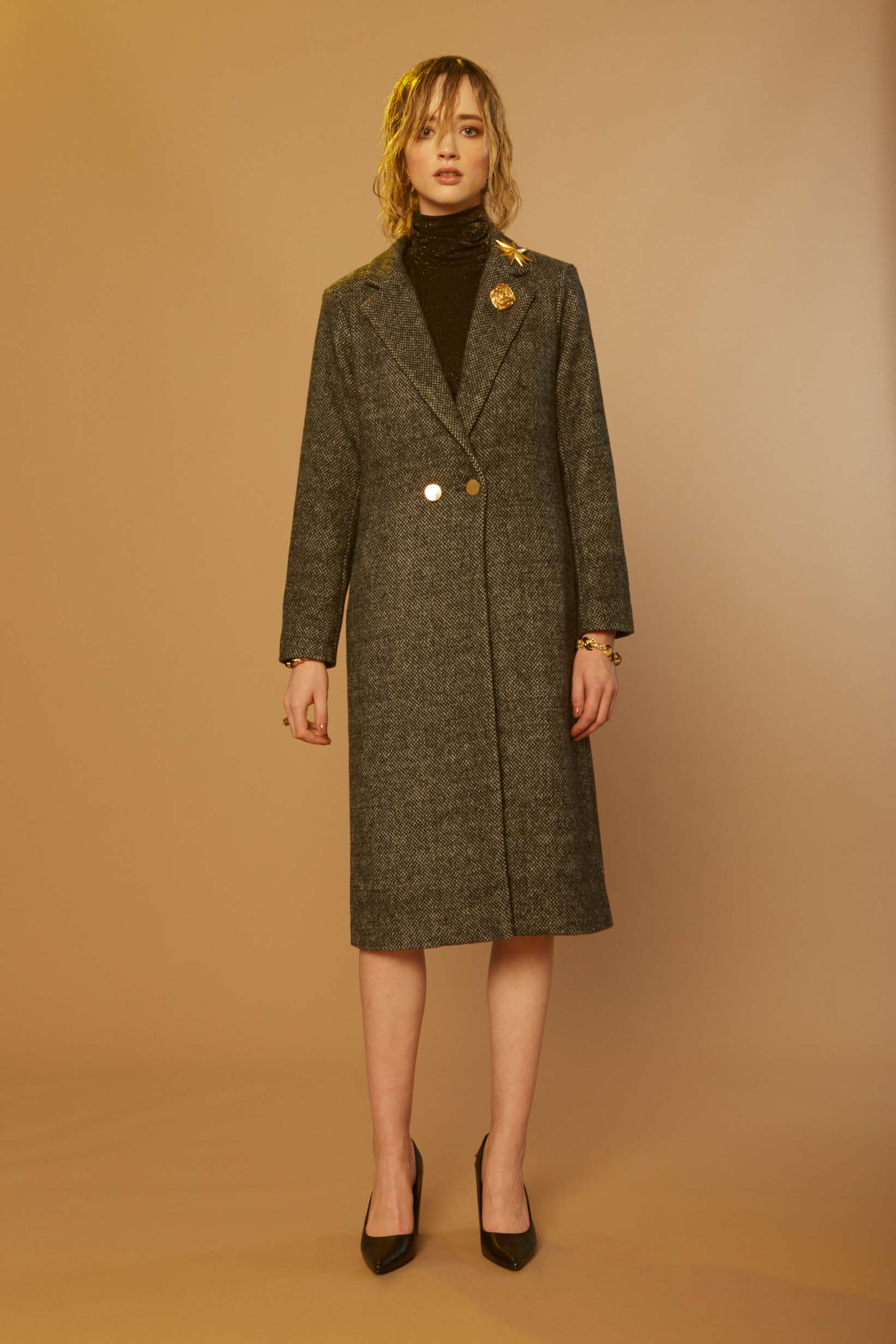 Liam Melisma Coat & Galaxy Turtleneck