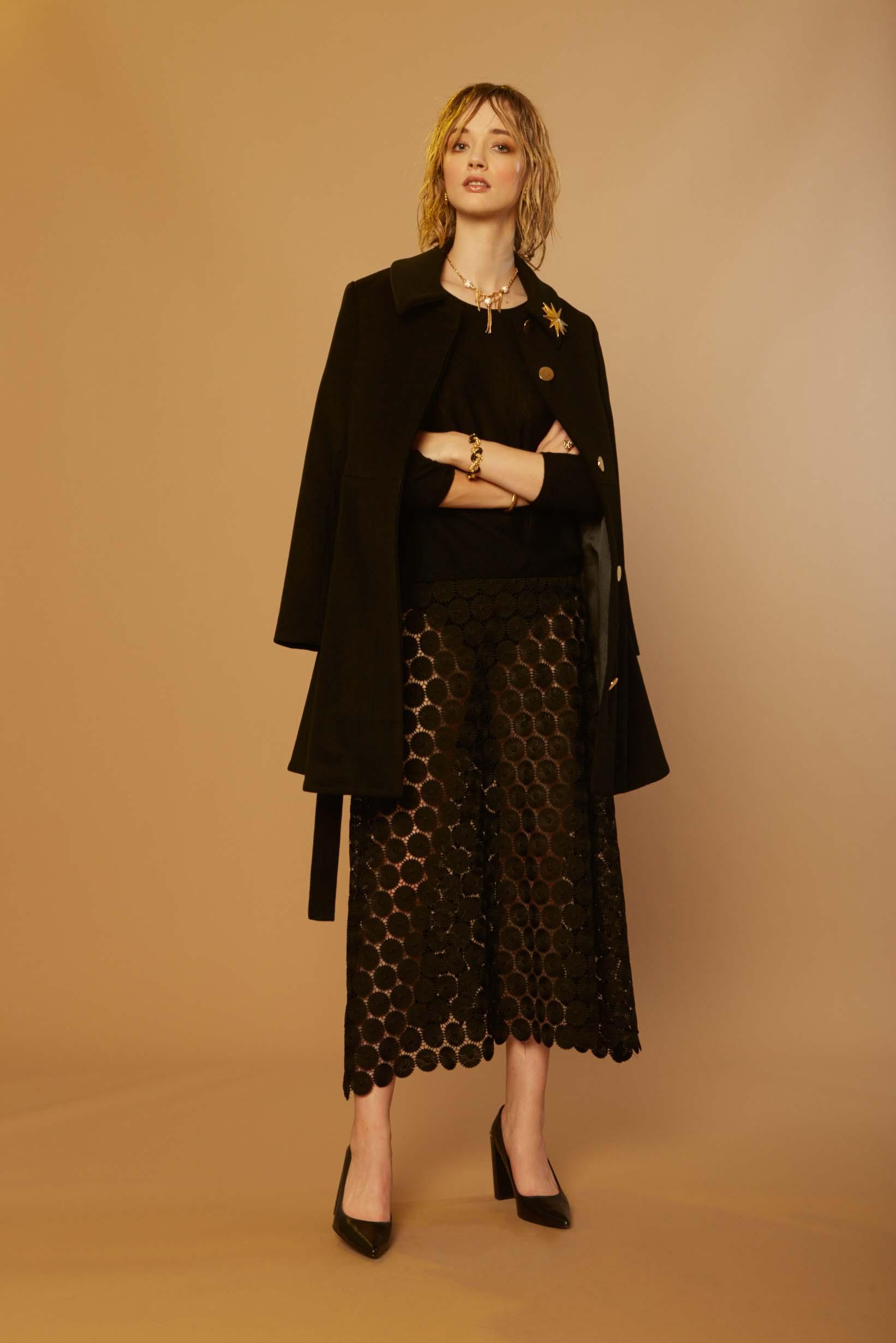 Liam Sonic Coat, Comfy Sweater & Trip Skirt