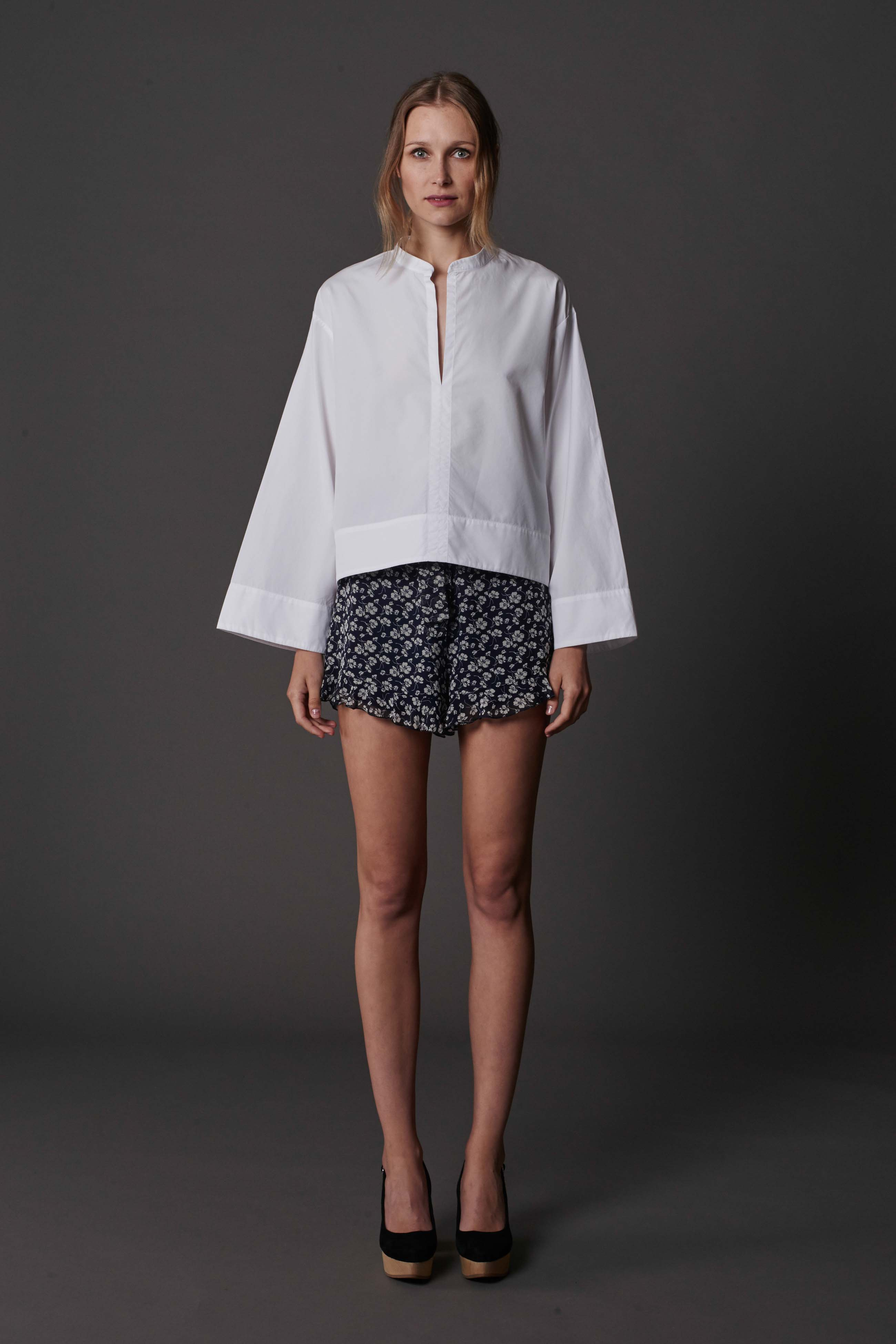 RUBY Alpine Shirt, Ivana Ruffle Short & Halo Heel