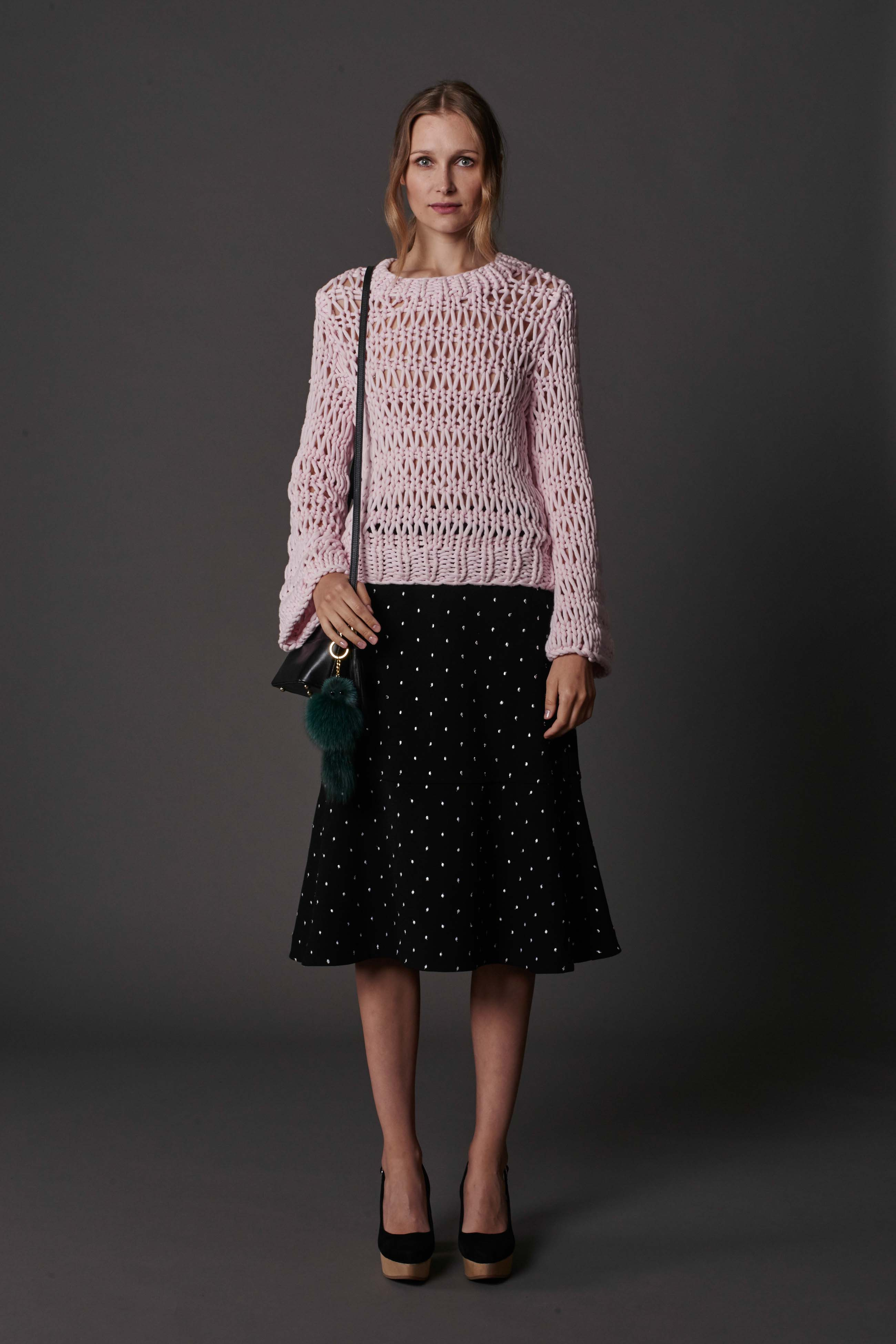 RUBY Alpine Sweater, Halo Skirt, Lila Shoulder Bag & Halo Heel