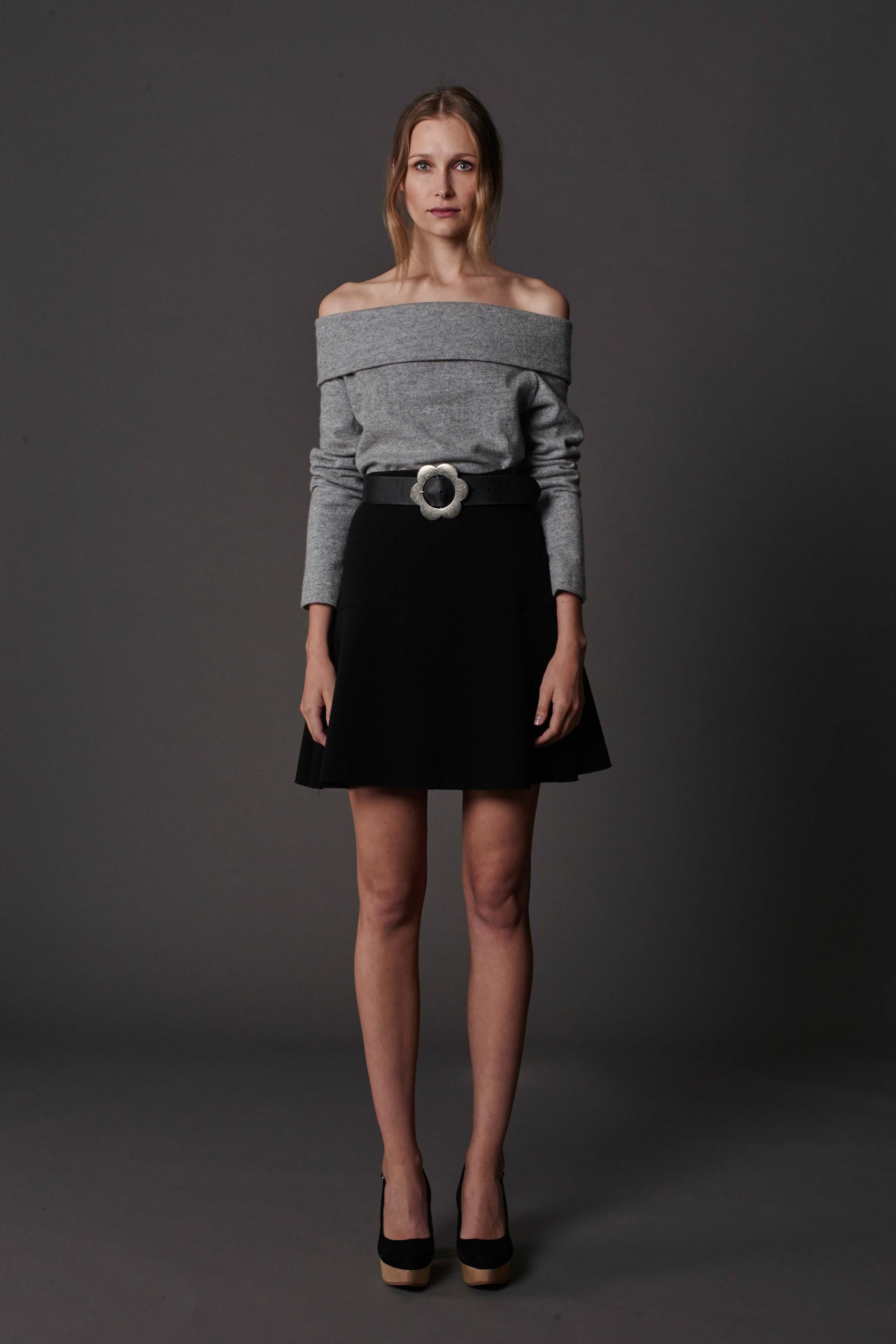 RUBY Alta Sweater, Ebony Skirt, Halo Belt & Halo Heel