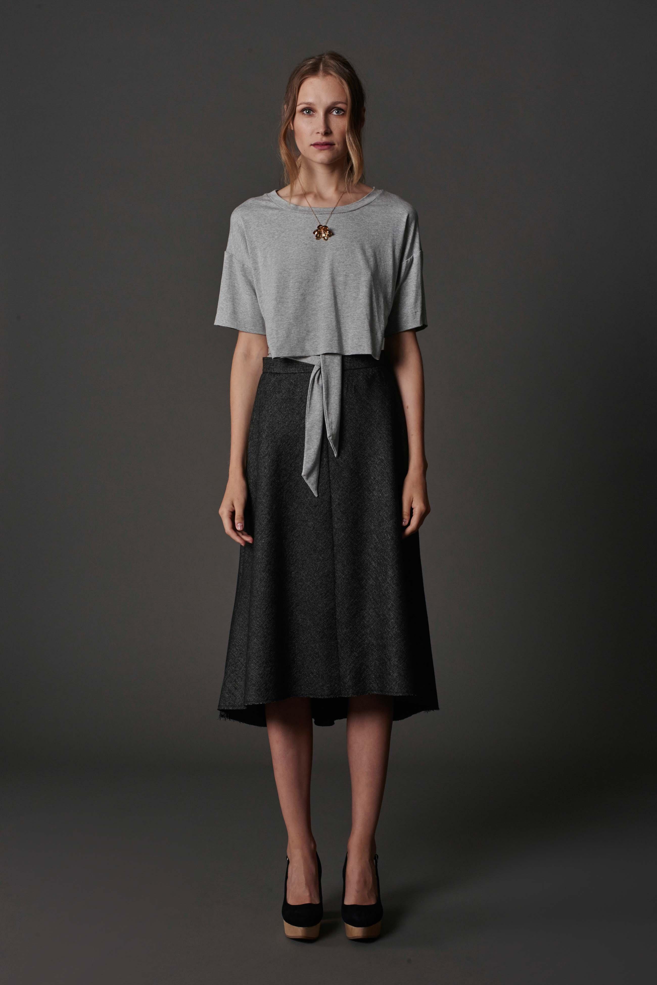 RUBY Alta Wrap T-Shirt, Malik Skirt & Halo Heel