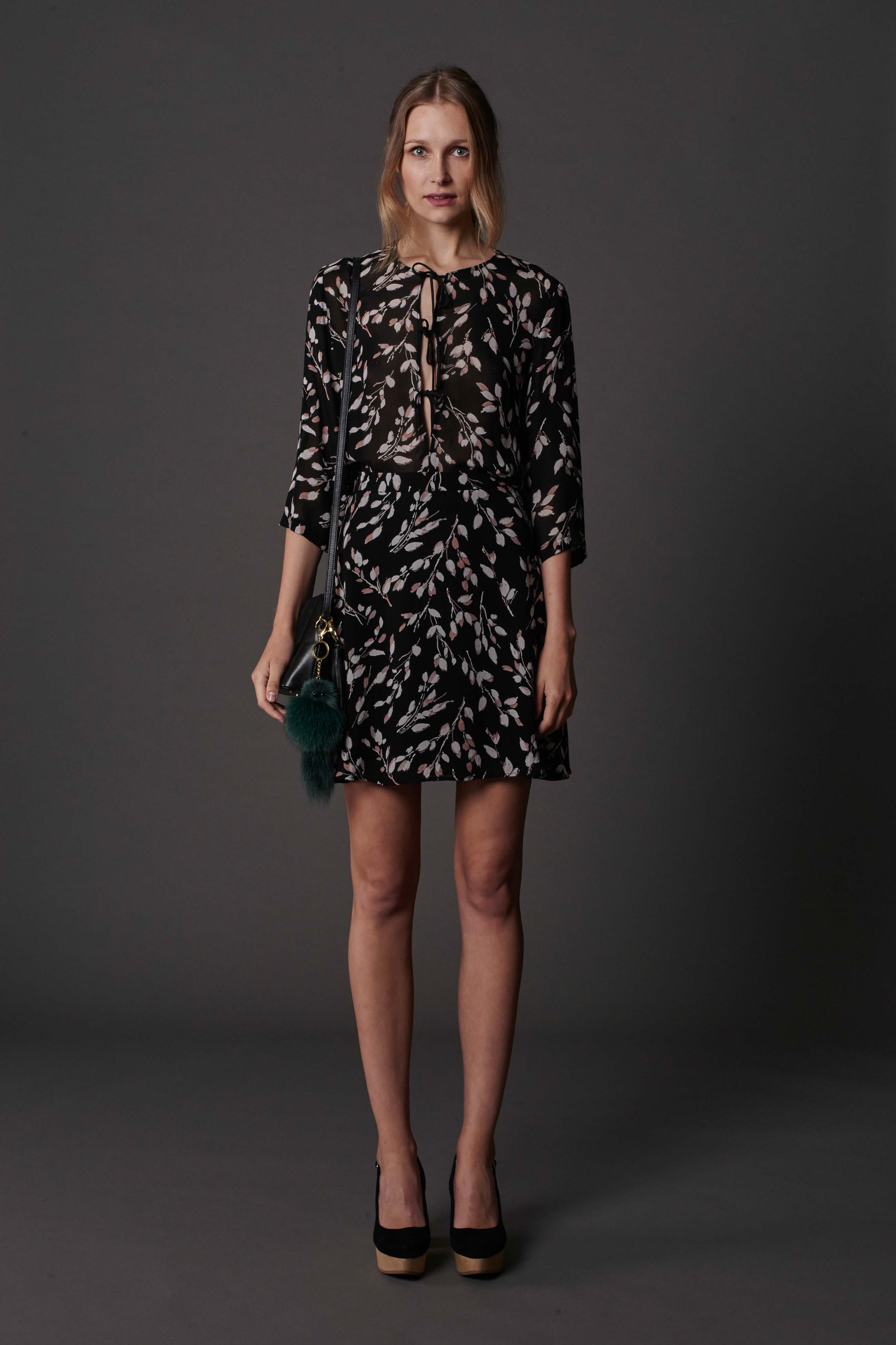RUBY Inez Blouse, Inez Miniskirt, Lila Shoulder Bag & Halo Heel