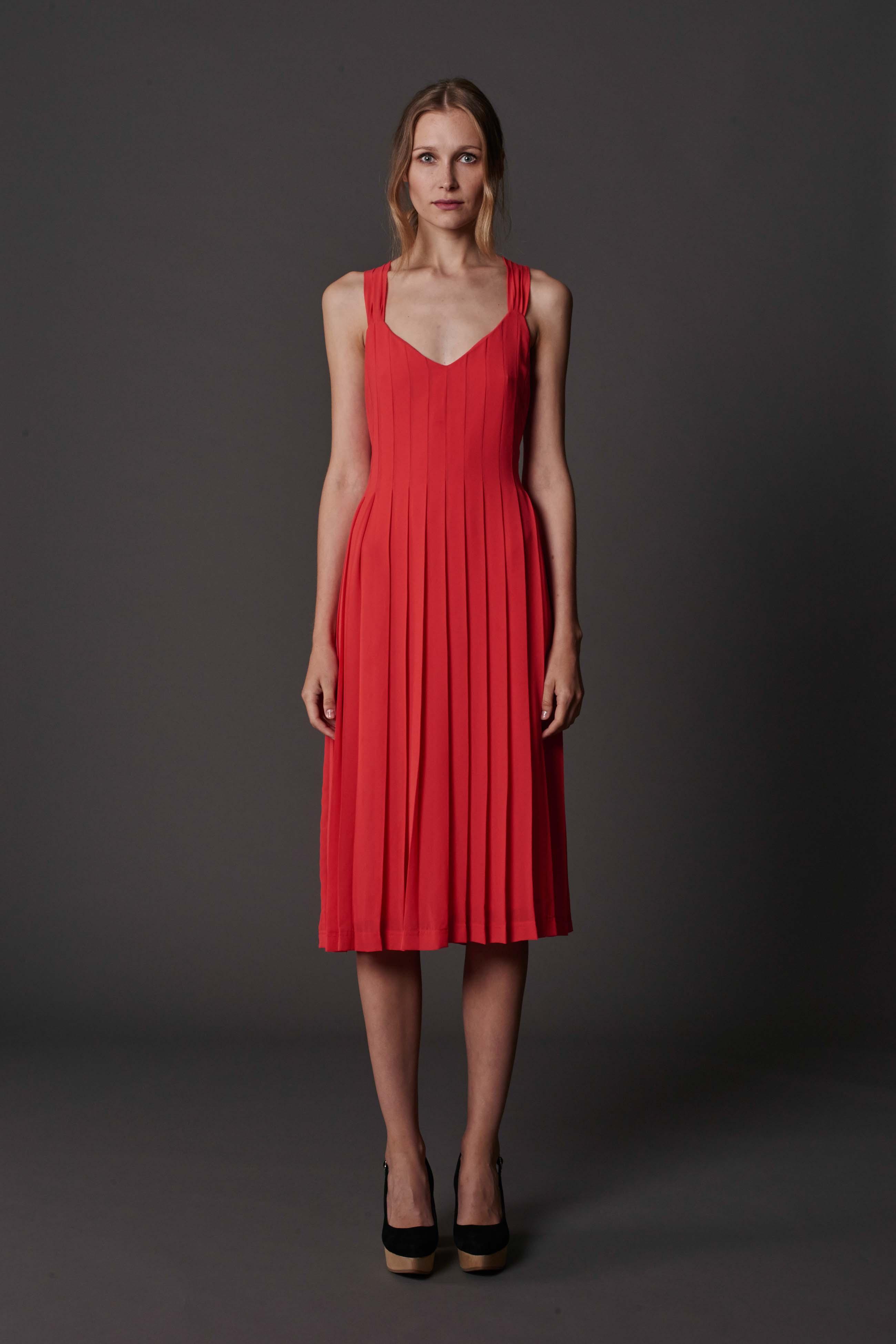 RUBY Lila Pleat Dress & Halo Heel