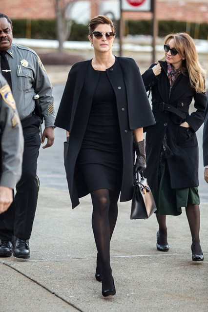 Supermodel Stephanie Seymour arrived at Stamford Superior Court facing charges of driving under the influence.