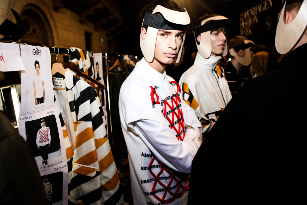 Backstage at Henrik Vibskov, Copenhagen Fashion Week.