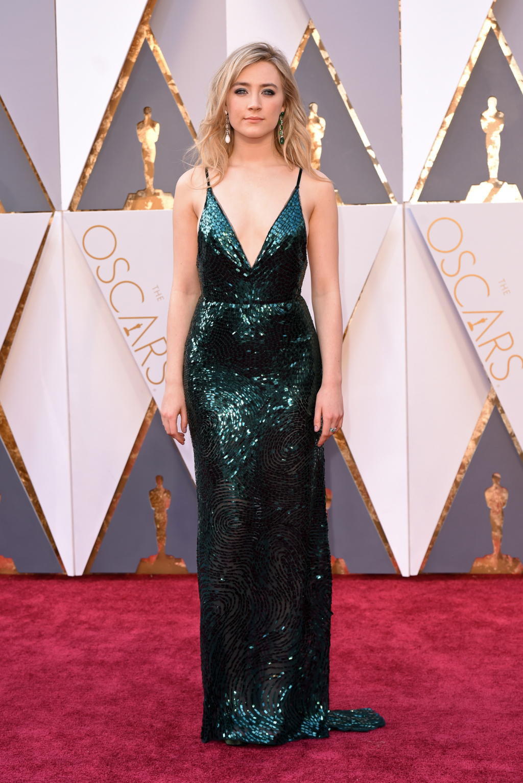 The Oscars 2016 - Saoirse Ronan in Calvin Klein Collection.