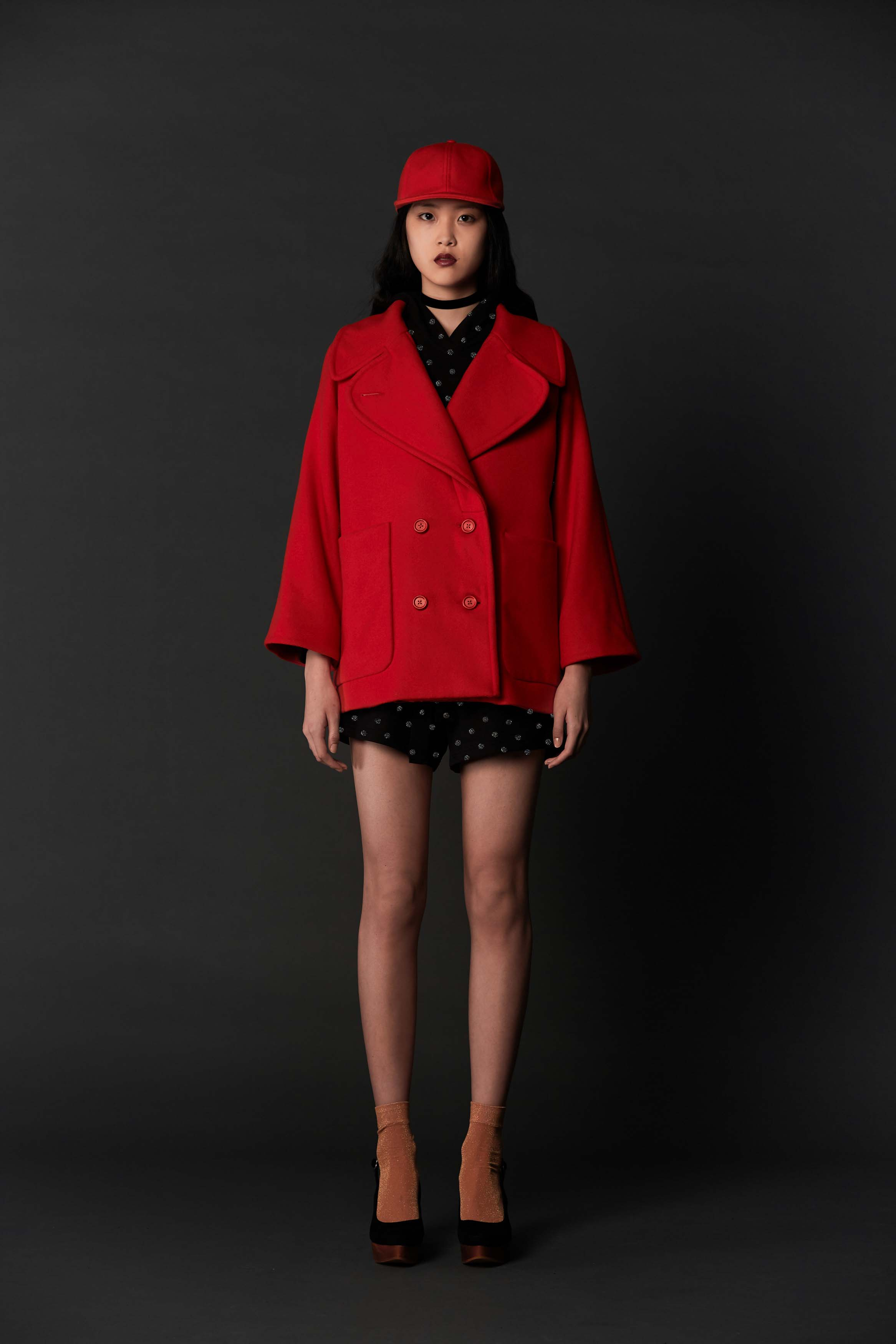 RUBY Alpine Peacoat, Potion Hoodie, Potion Short, Alpine Baseball Cap & Halo Heel
