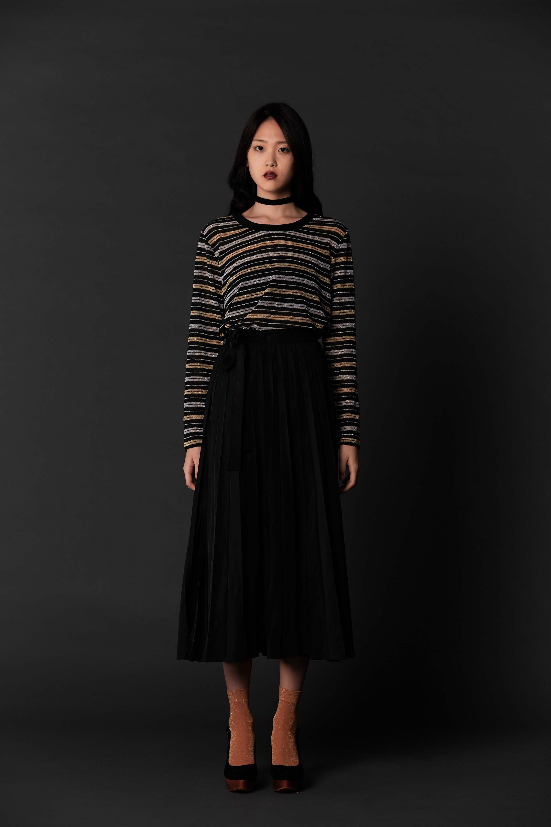 RUBY Elixir Longsleeve, Vampire Pleat Skirt & Halo Heel
