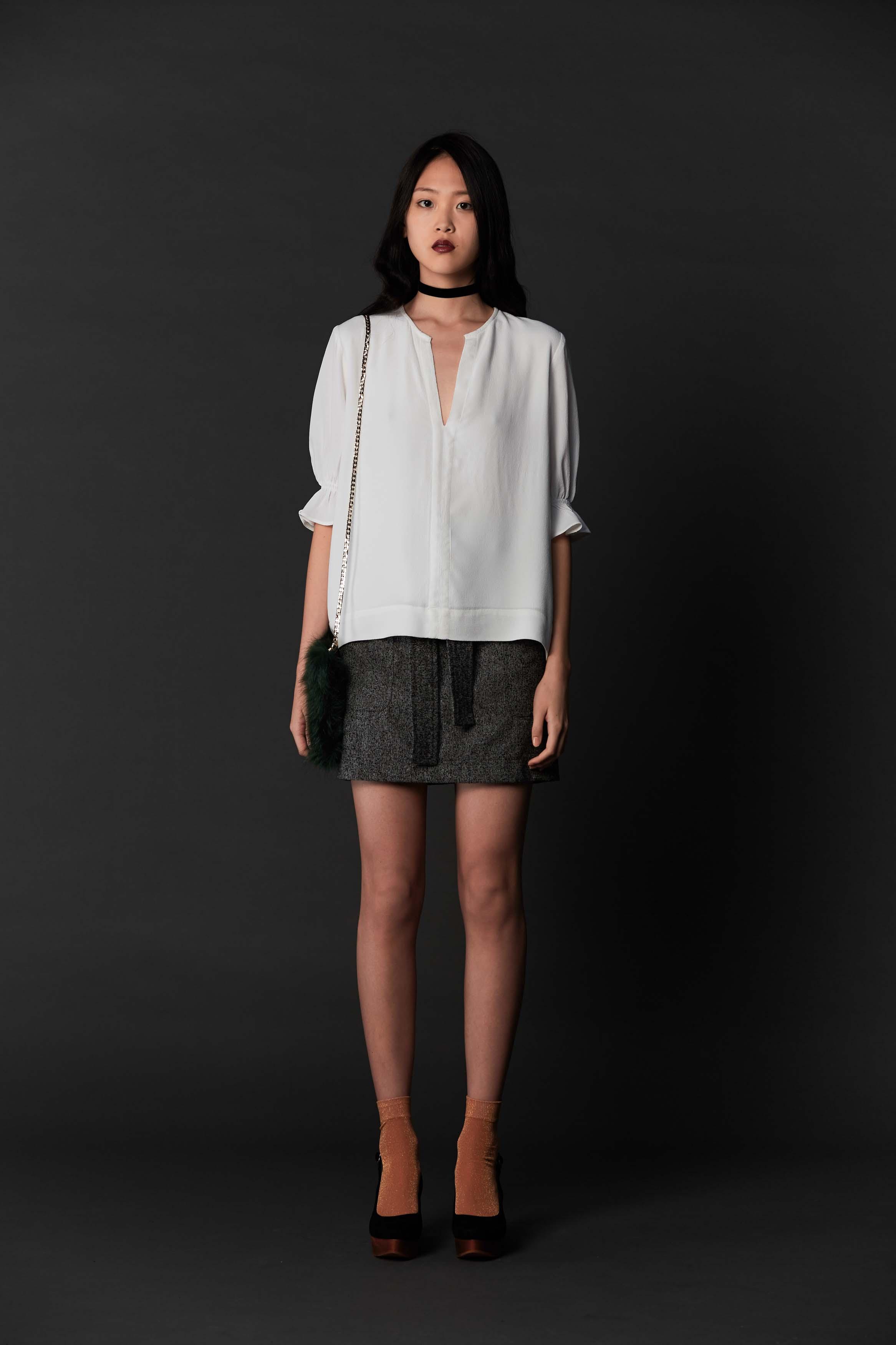 RUBY Iva Blouse, Zora Miniskirt & Halo Heel
