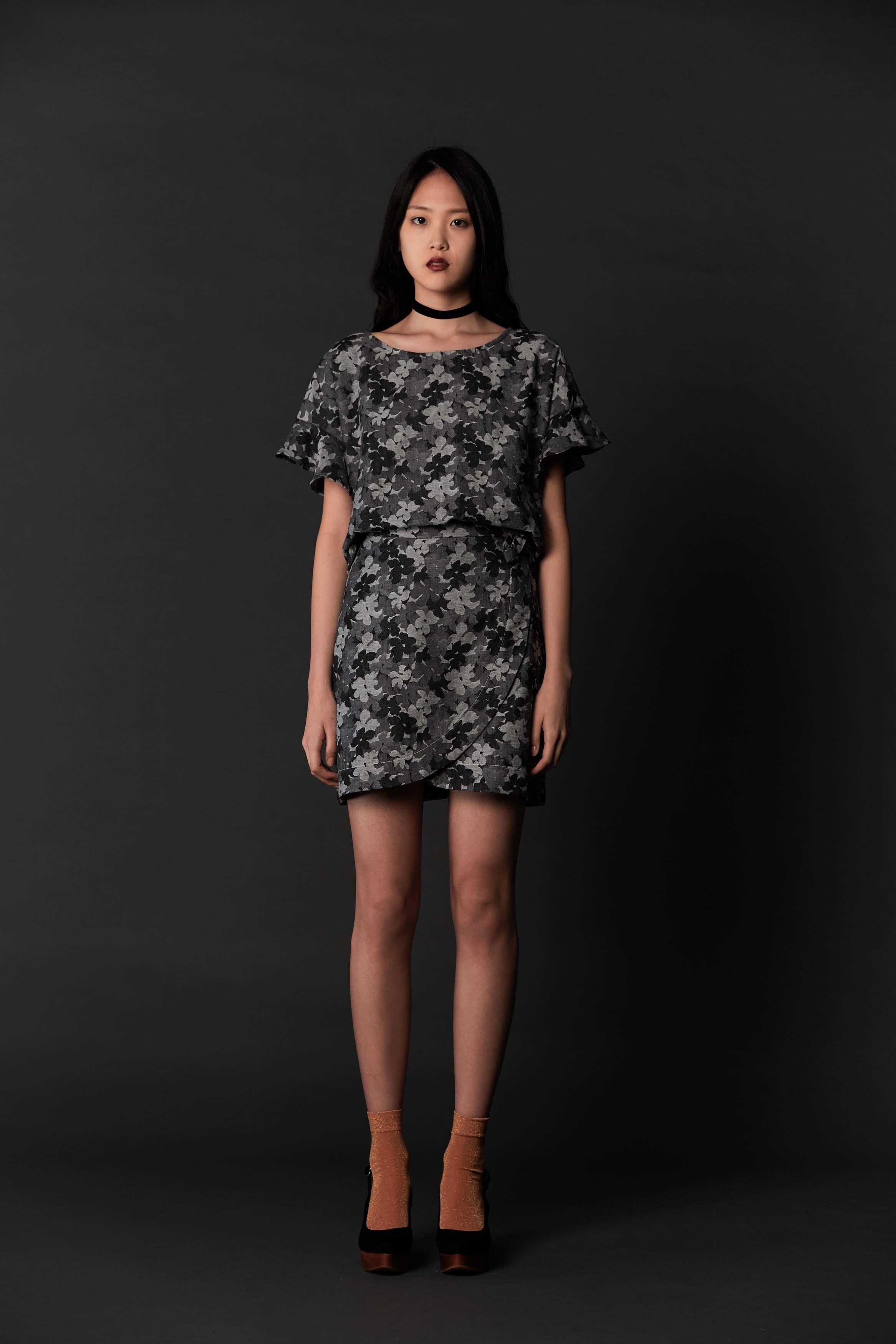RUBY Mimic Blouse, Mimic Wrap Skirt & Halo Heel