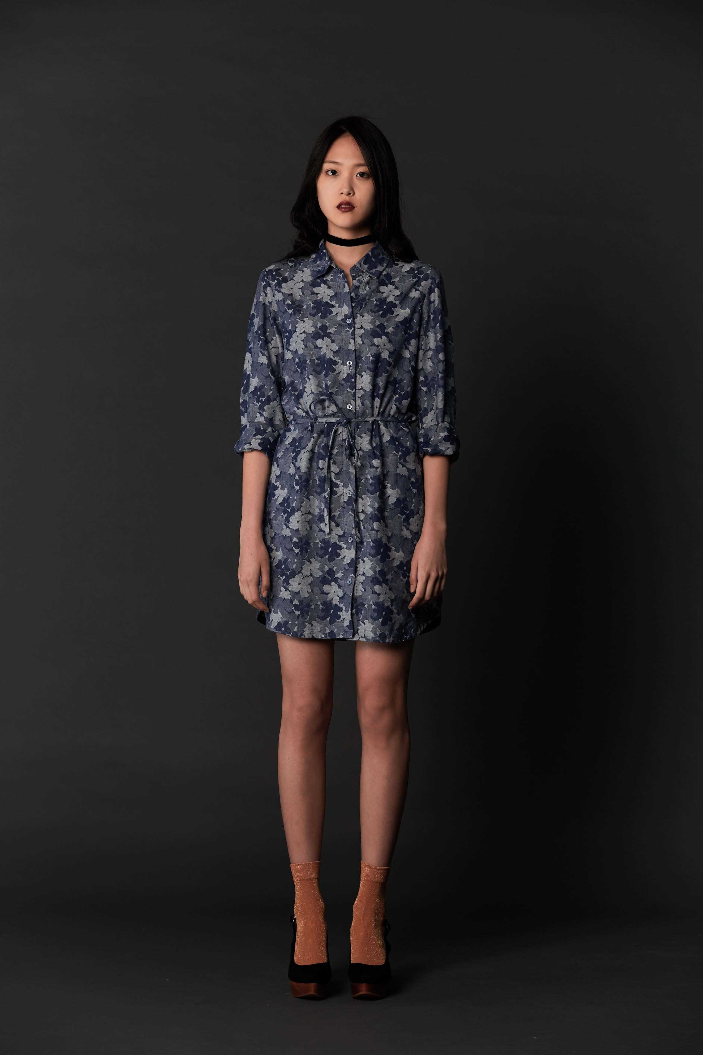 RUBY Mimic Shirt Dress & Halo Heel