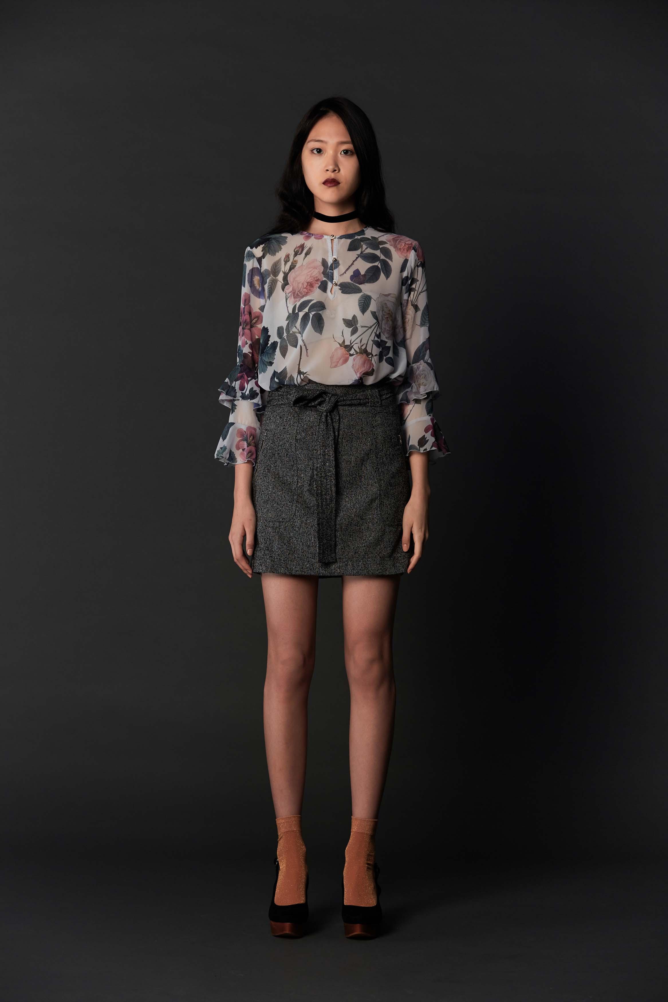 RUBY Papillon Blouse, Zora Miniskirt & Halo Heel