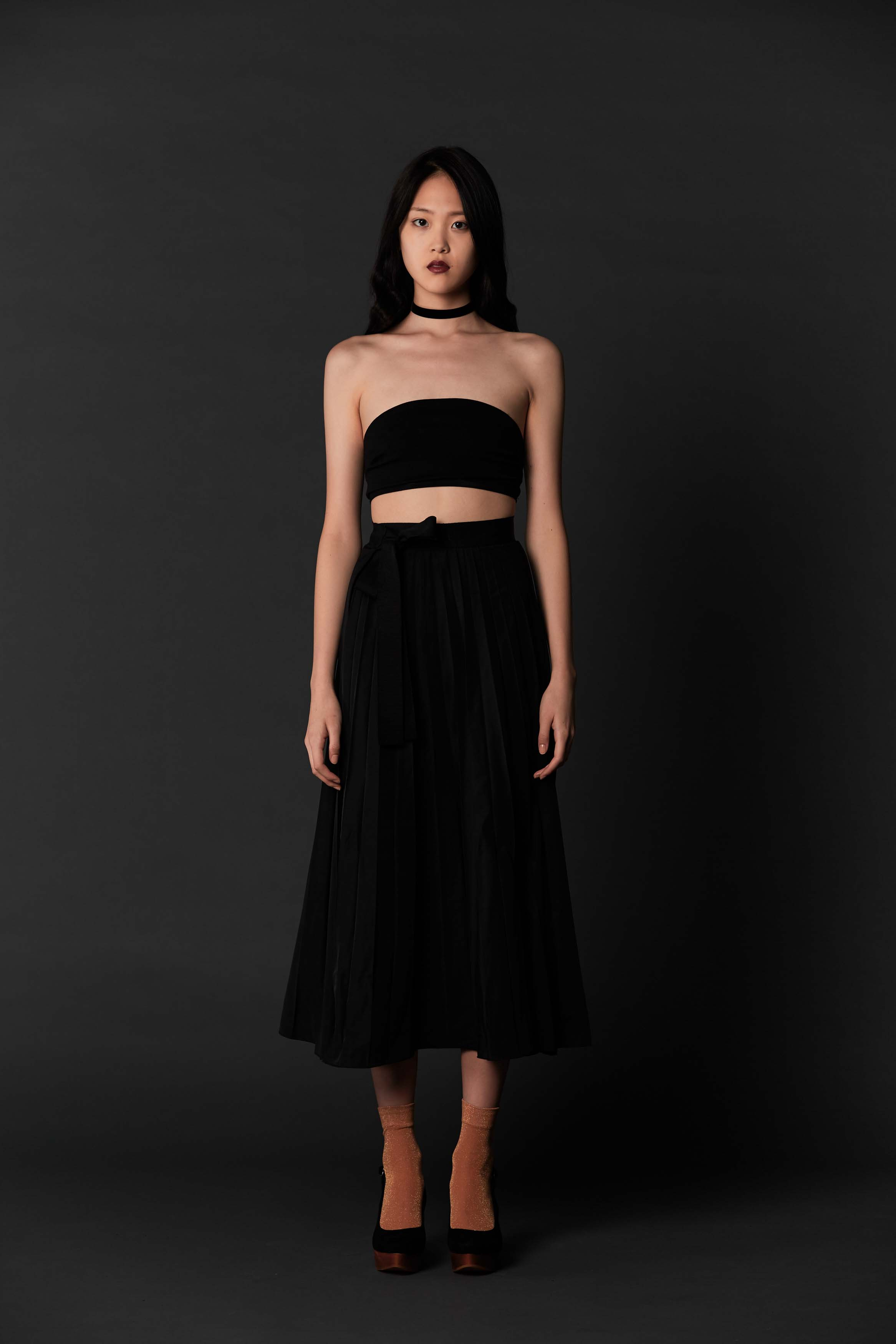 RUBY Vampire Bandeau, Vampire Pleat Skirt & Halo Heel