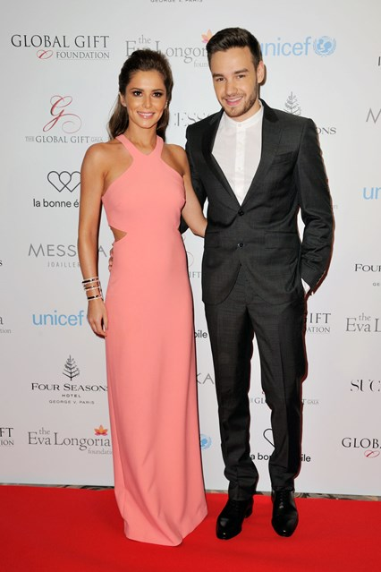 Cheryl Fernadaz-Versini and Liam Payne step out to make there red carpet debut as a couple, at the Global Gift Gala in Paris.