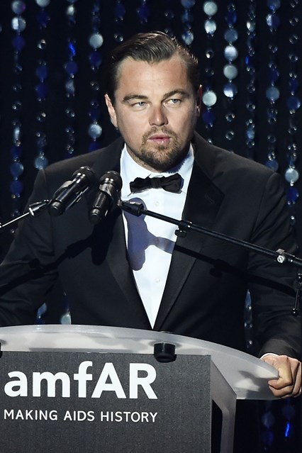 At amfAR's annual Cinema Against AIDS gala at the Cannes Film Festival, actor Leonardo DiCaprio auctions off a one-week stay for 12 people at his Palm Springs home. The auction reportedly went for 150,00 euros. However, the actor said he won't be present during their stay.