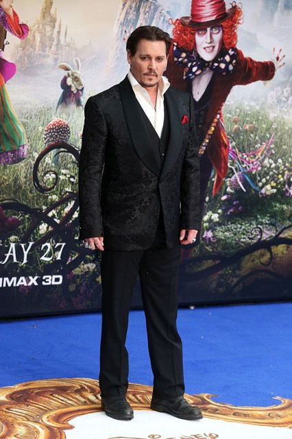 Johnny Depp on the red carpet for his latest film 'Alice Through The Looking Glass'