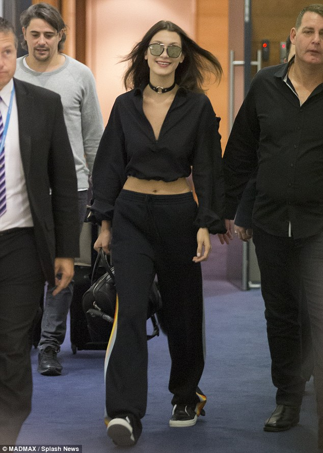 Bella Hadid touches down in Sydney, Australia for the first time as she is to walk in Australia's Mercedes Benz Fashion Week. She will walk for Melbourne brand 'Misha' to debut a new premium collection, 'Misha Gold'.