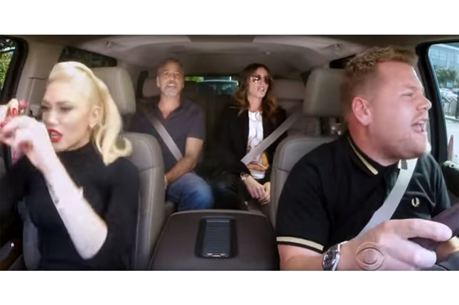 James Corden is joined by Gwen Stefani, George Clooney and Julie Roberts in the latest episode for his show of Carpool Karaoke.