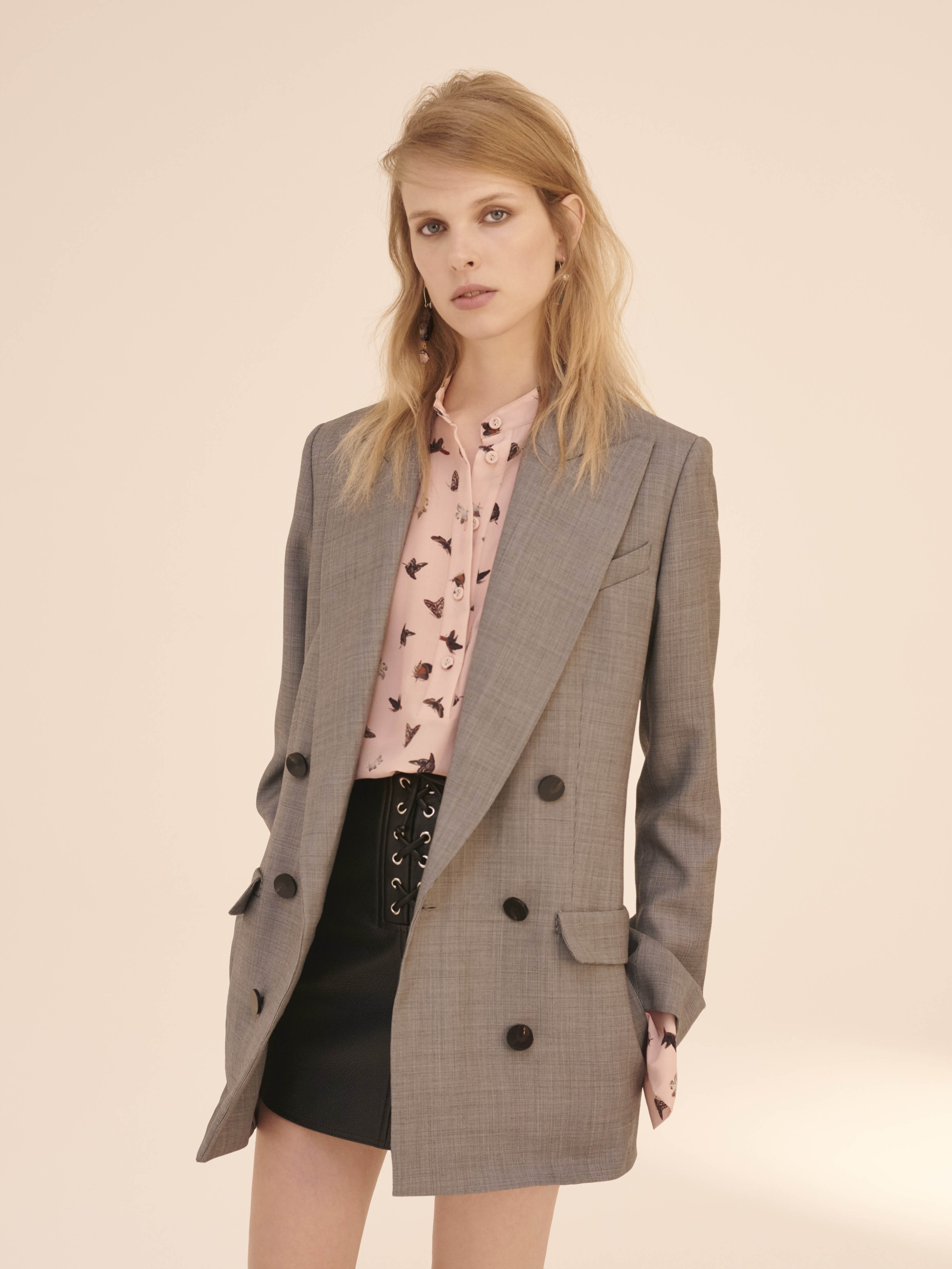 TOPSHOP Unique, Campion Blouse $360, Wycliffe Blazer, $660