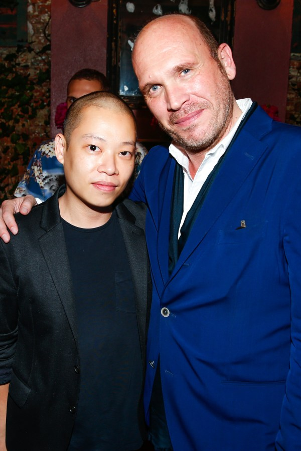 Jason Wu pictured with Dirk Standen at the U.S. launch of the Japanese lookbook app, Wear.