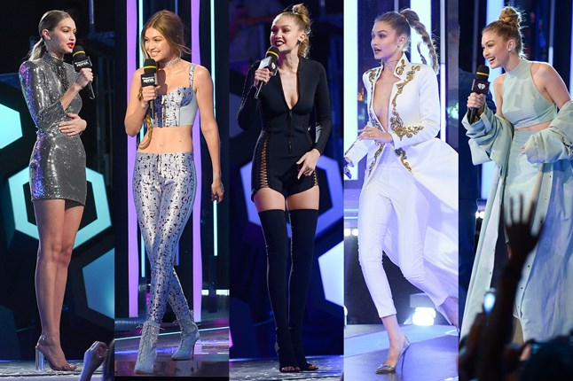 Gigi Hadid had five outfit changes at the 2016 iHeartRadio Much Music Awards.