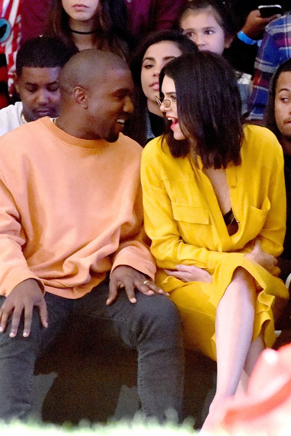 Kanye West and Kendall Jenner were photographed sitting front row at Tyler the Creator's fashion show.