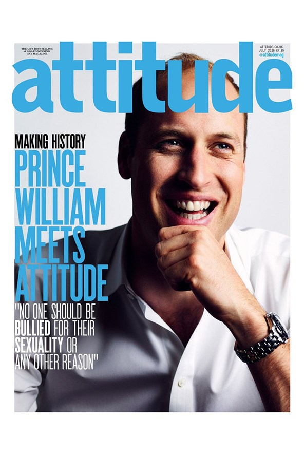 Prince William appeared on the cover of Attitude Magazine, making him the first royal to ever feature on the cover of a gay magazine.