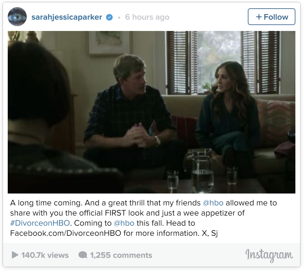 Sarah Jessica Parker premieres the first trailer for her upcoming HBO dramatic comedy, Divorce.