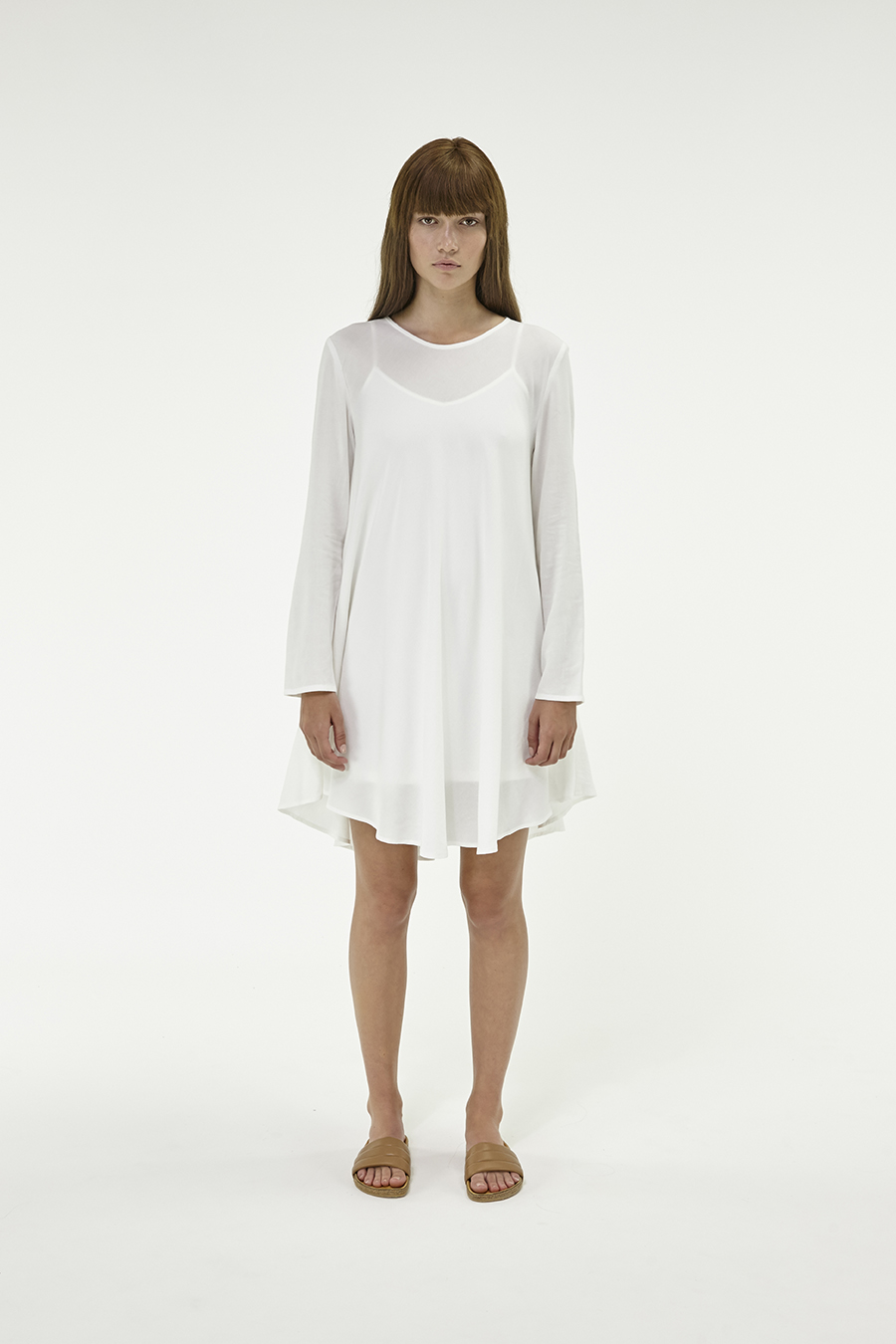 Huffer_Q3-16_W-LS-Minne-Dress_White-01