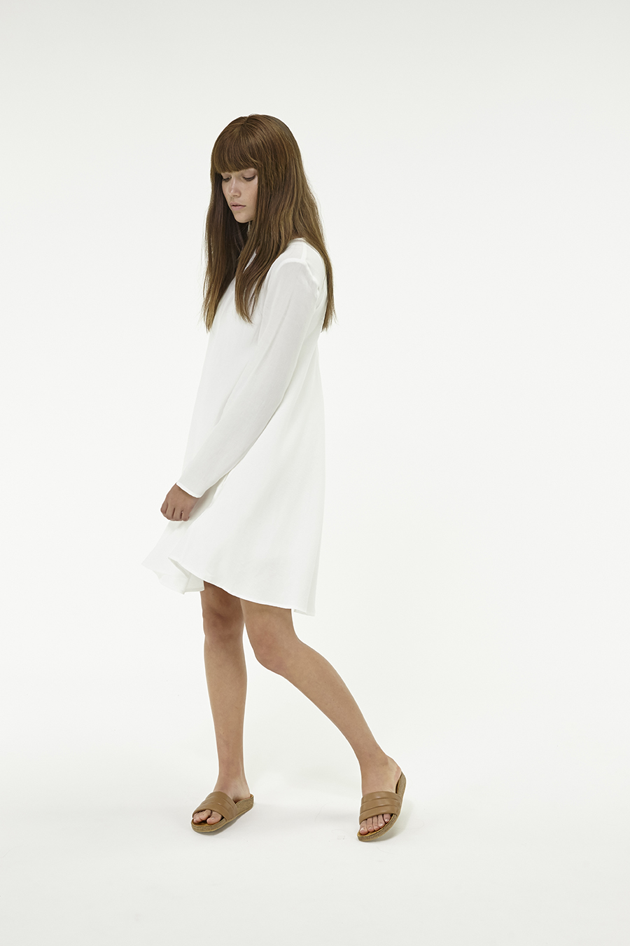 Huffer_Q3-16_W-LS-Minne-Dress_White-04