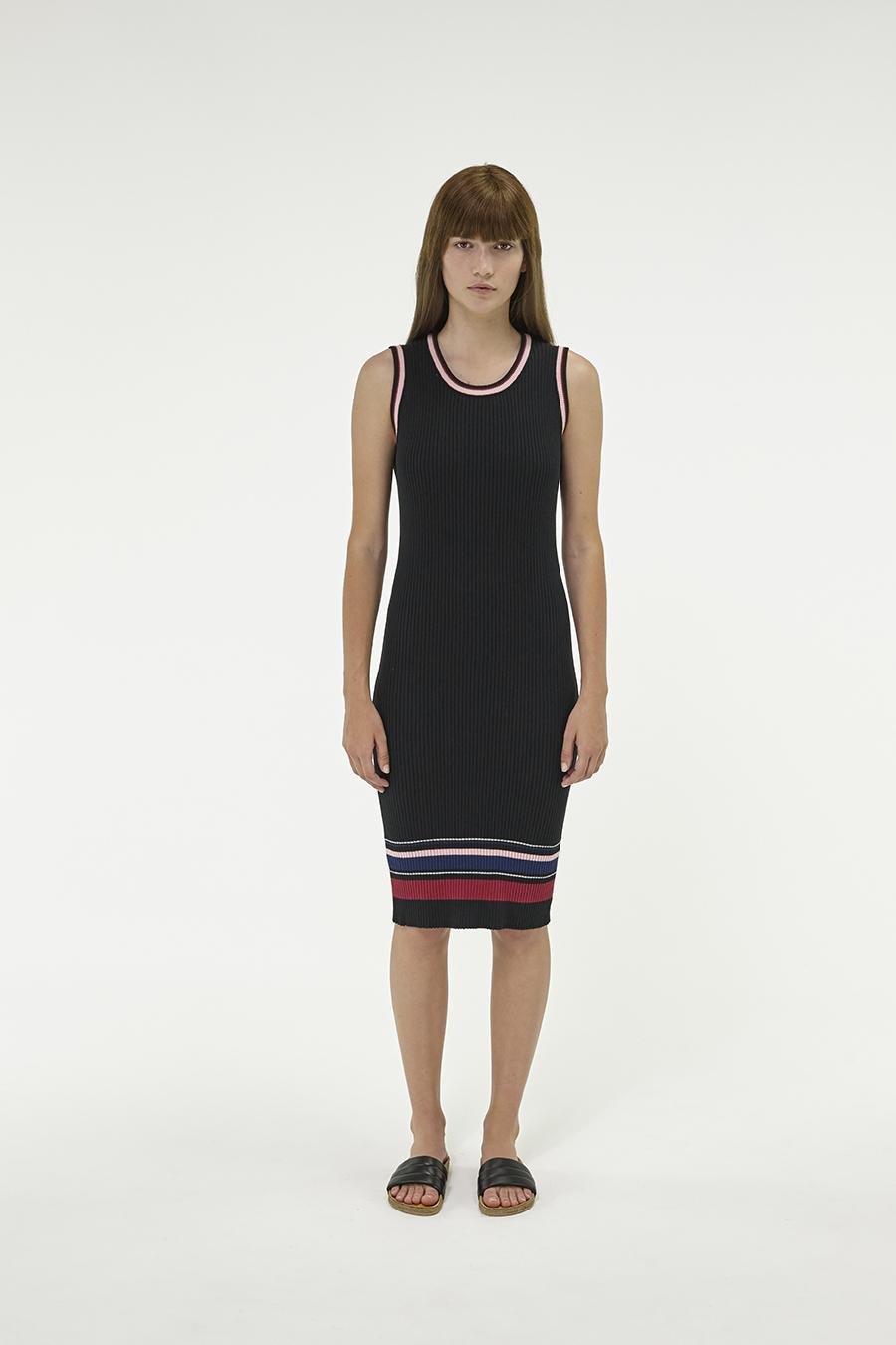 Huffer_Q3-16_W-Rogue-Rib-Dress_Black-01