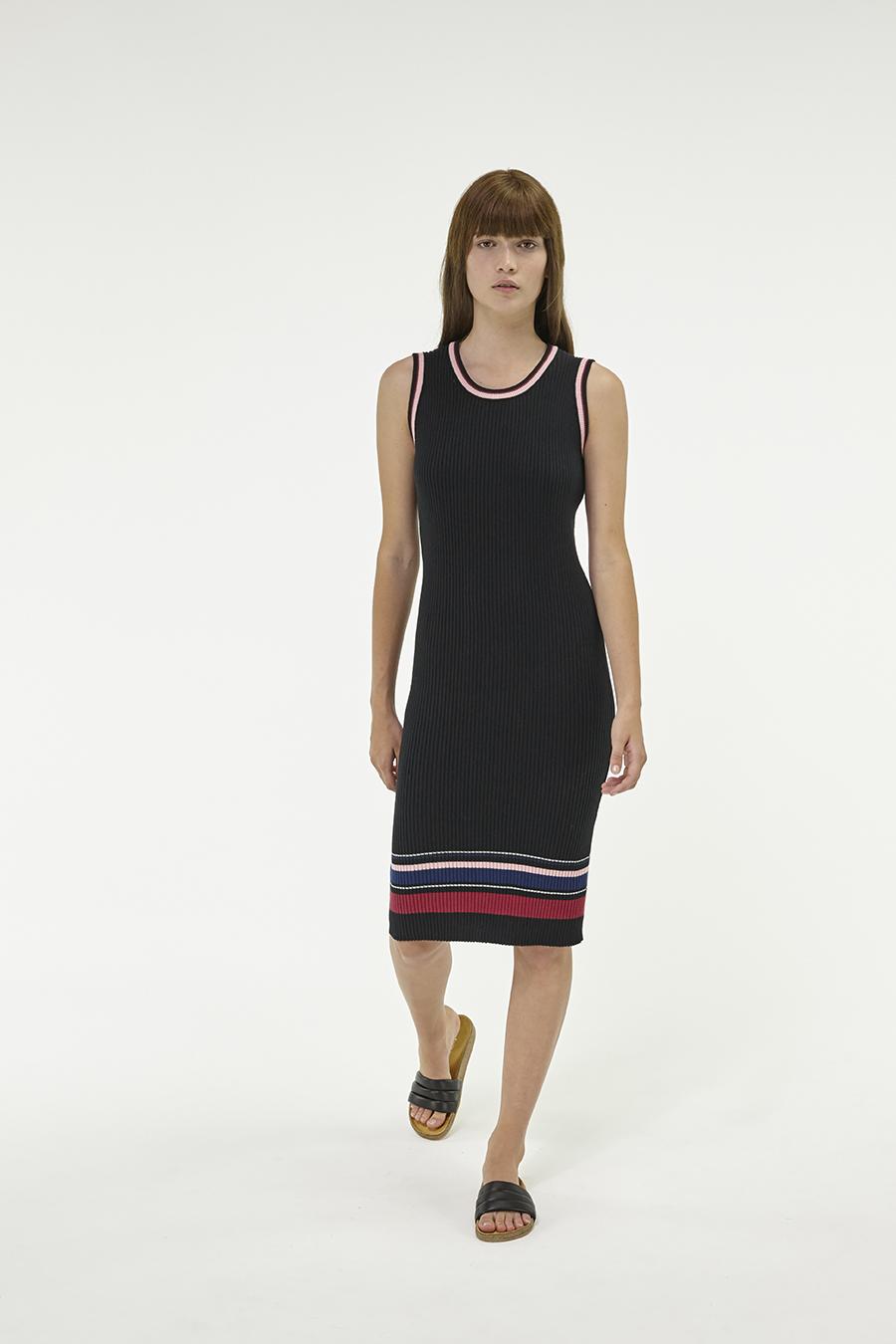 Huffer_Q3-16_W-Rogue-Rib-Dress_Black-04