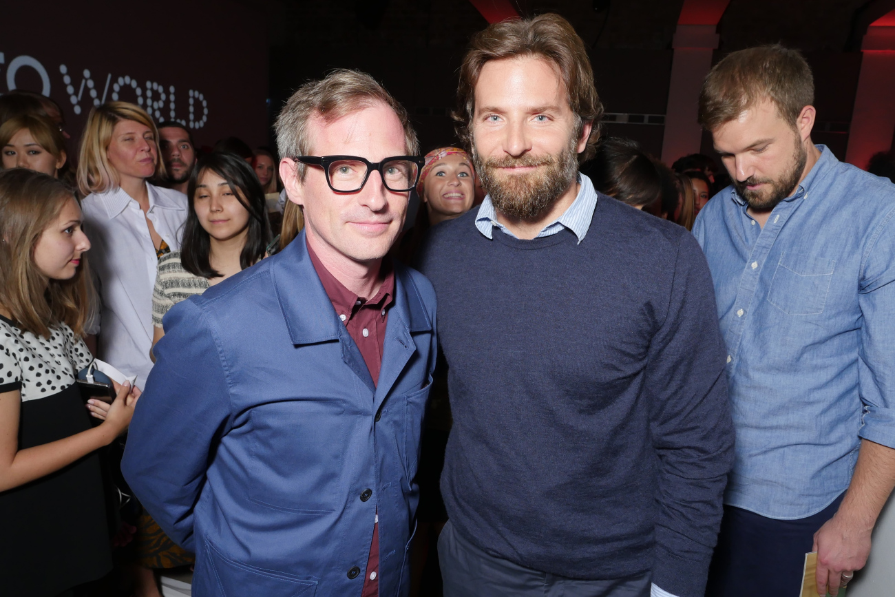 Spoke Jonze and Bradley Cooper at the Kenzo perfume party held at Paris' Hotel Salomon de Rothschild.