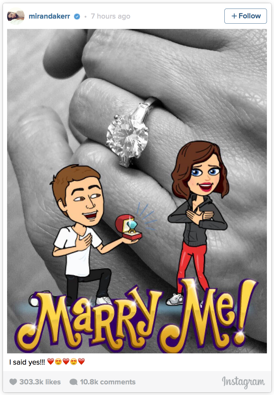 On Wednesday Miranda Kerr, 33,  got engaged to Snapchat founder Evan Spiegel.