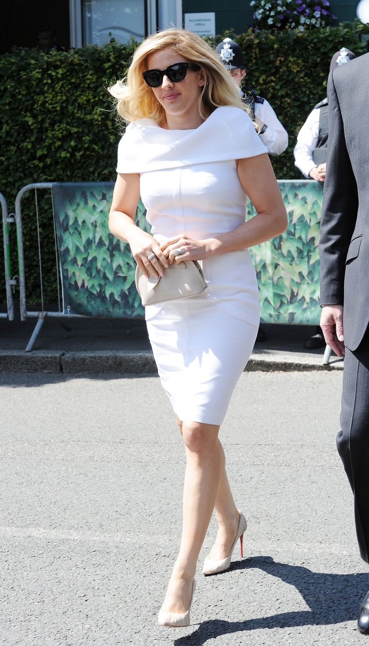 Ellie Goulding shows classic style doesn't go out of fashion at Wimbledon.