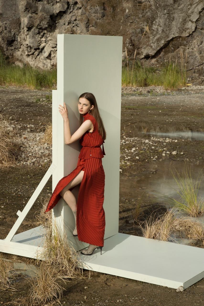taylor-Unequivocal-Top-Rust-Diverge-Dress-Rust