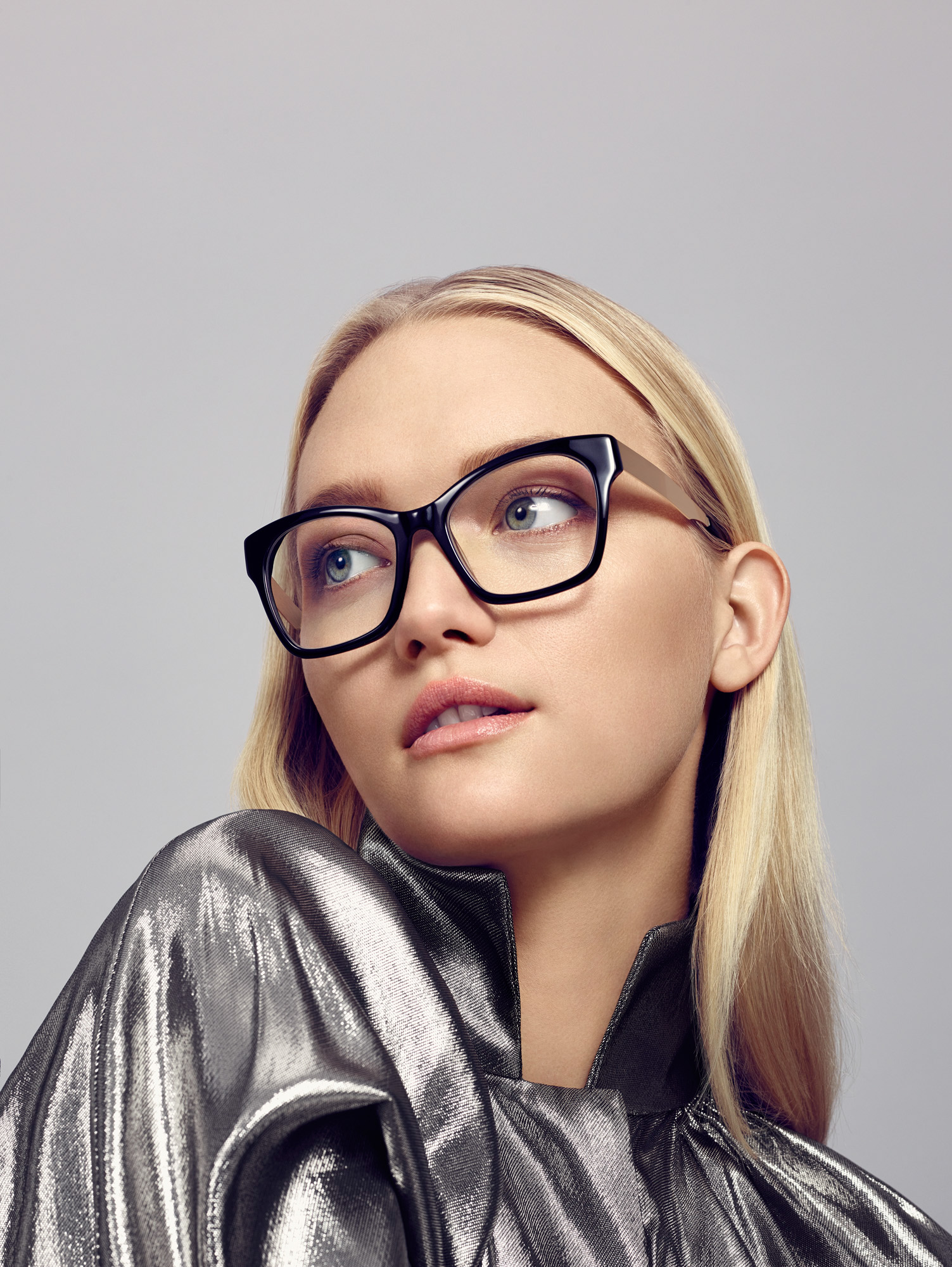 Gemma wears ELLERY 02 BLK glasses SKU 30474642 RRP 2 pairs from $299