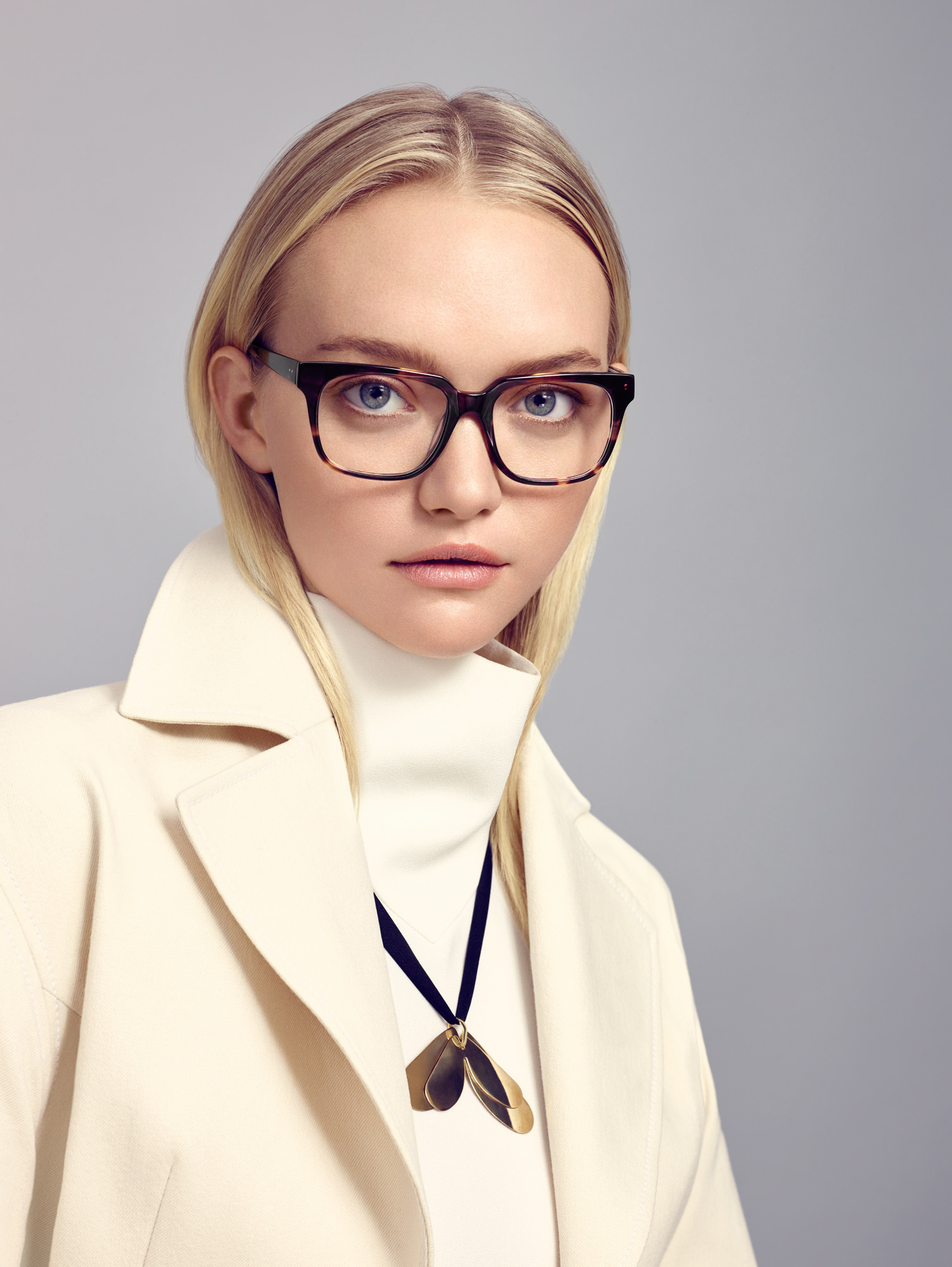 Gemma wears ELLERY 02 TORT glasses SKU 30474635 RRP 2 pairs from $299
