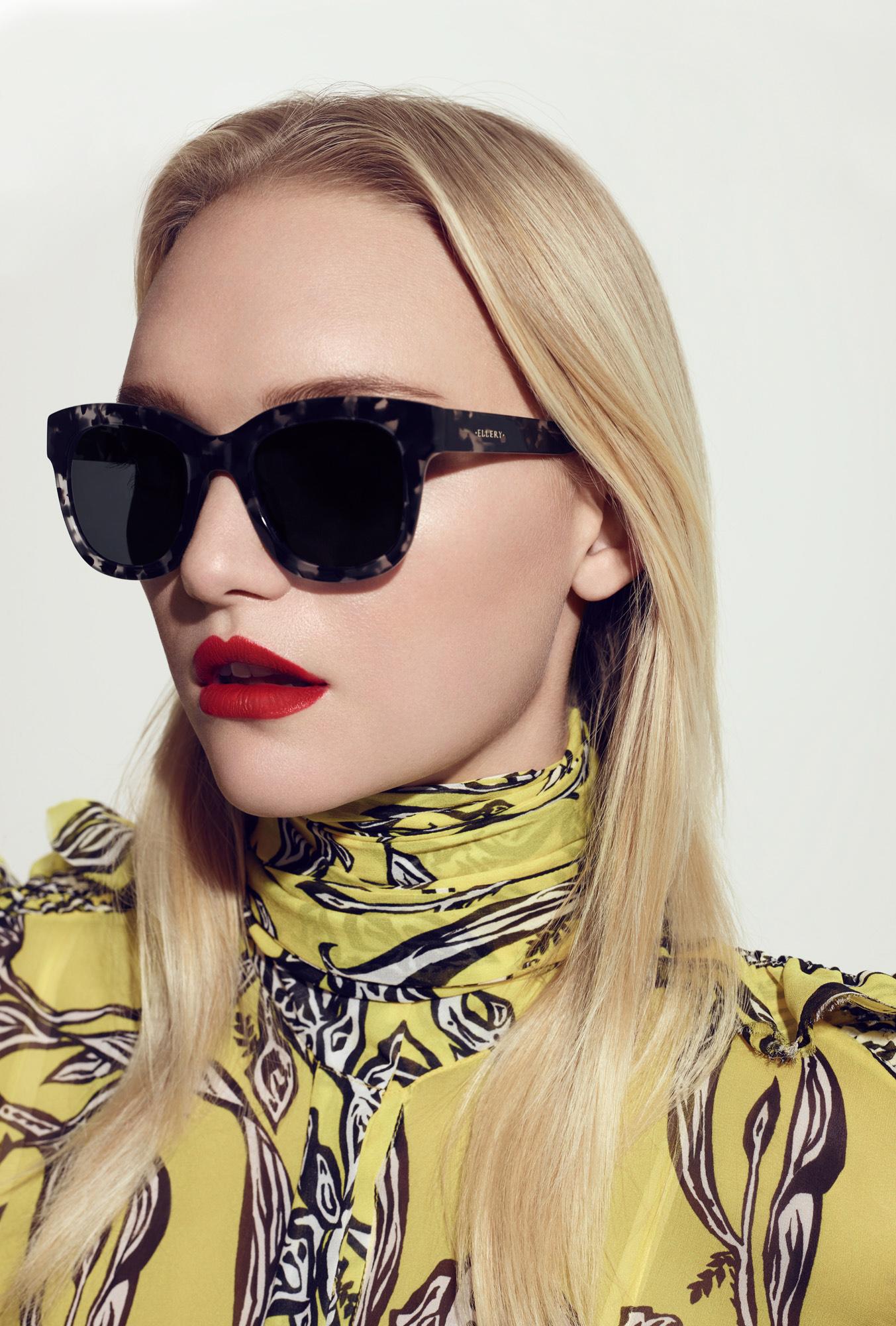 Gemma wears ELLERY SUN RX 03 glasses SKU 30474802 RRP 2 pairs from $369