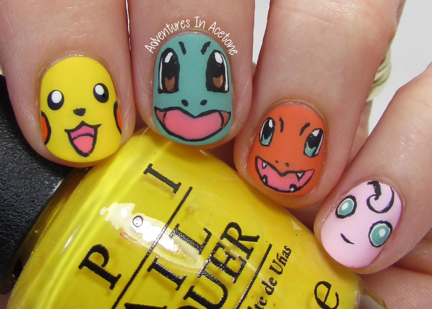 Pokemon nail art apparel pokemon nail art prinsesfo Choice Image