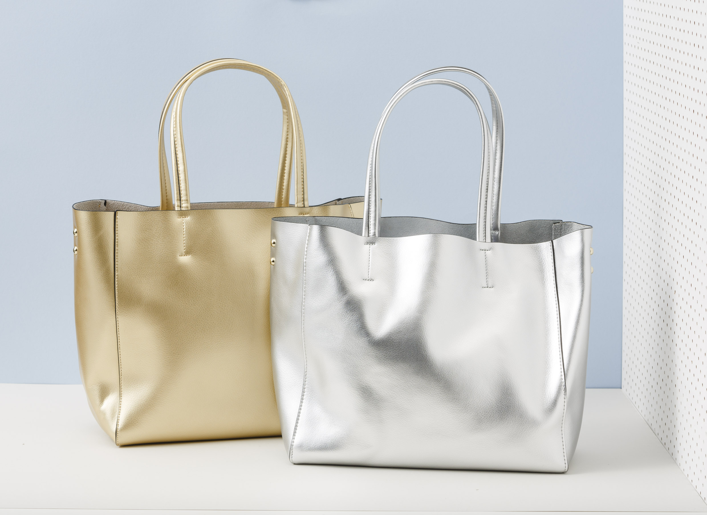 handbags metallic