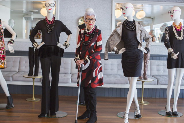 Iris Apfel turned 95 this week and celebrated with Macy's. It was there she launched her new collection within the INC line called Iris Meets INC. It consists of 40 must-have pieces capturing the spirit of Sixties Mod styles.