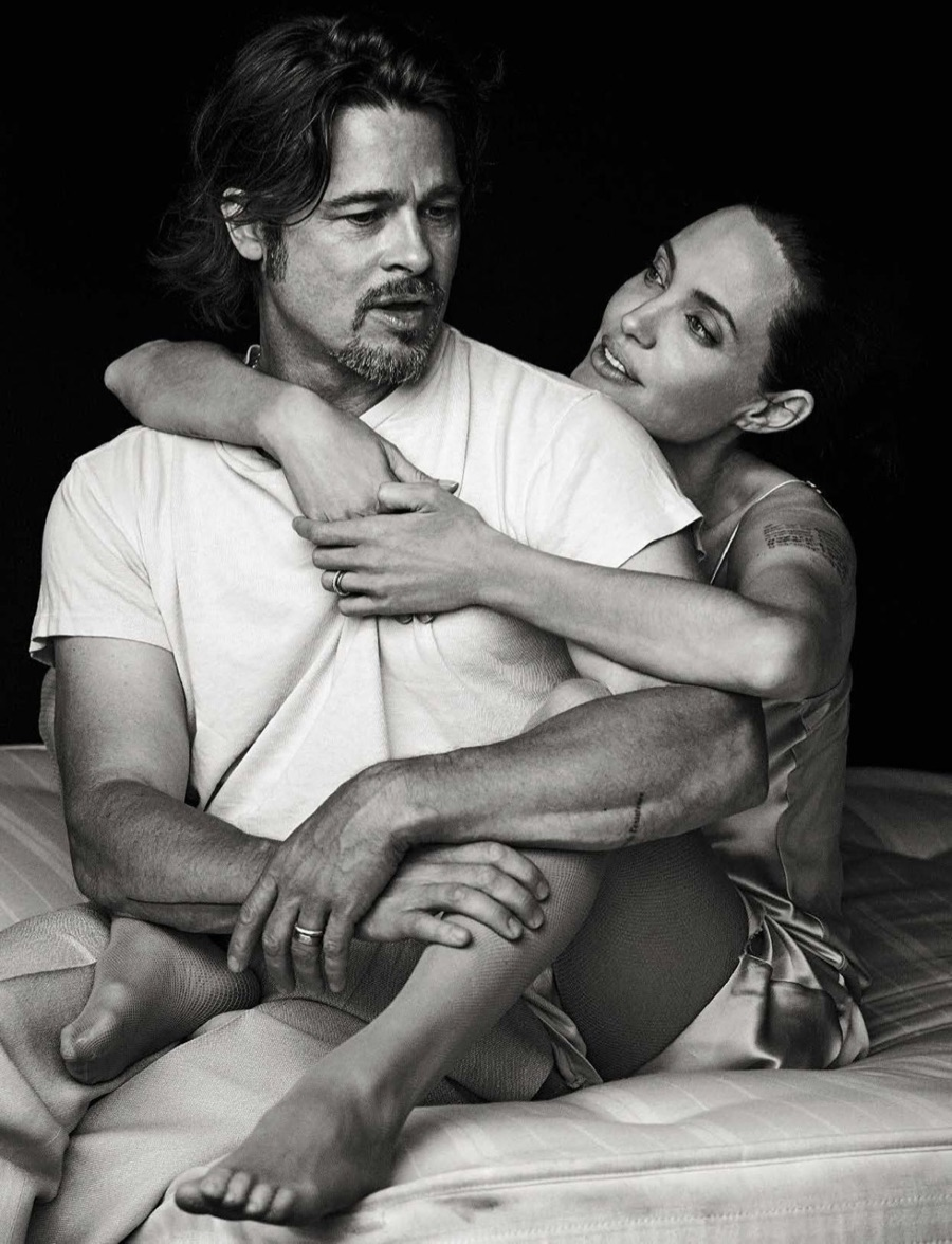 Brad Pitt and Angelina Jolie are the centre of attention right now with their split. Here is their cover for the November 2015 Vanity Fair Italia, photographed by Peter Lindbergh.