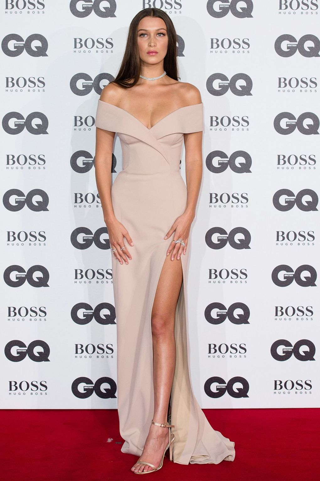Bella Hadid at the GQ Men Of The Year Awards