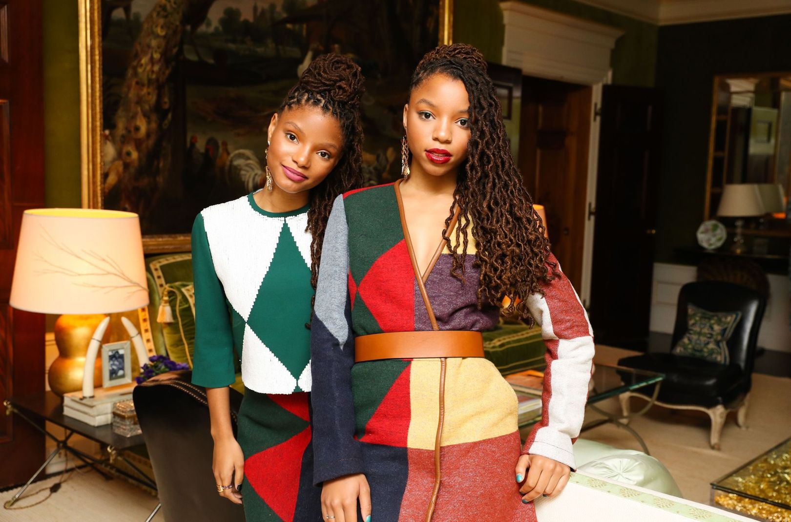 Chloe & Halle at the Tory Burch dinner.